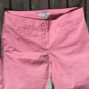 Laundry Pink Cropped Ankle Capris